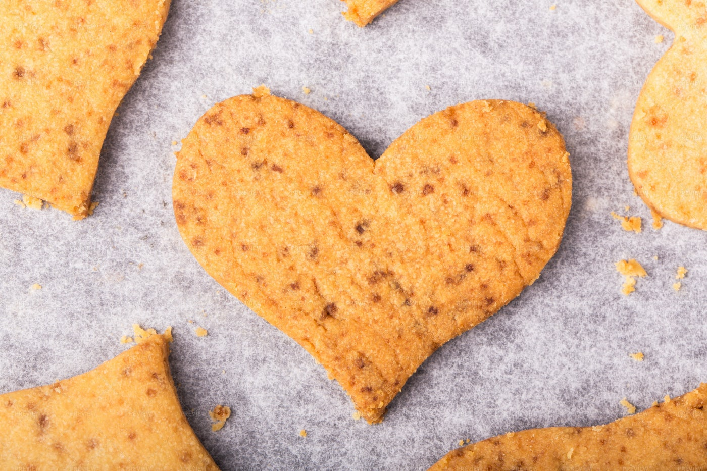 Cookies In A Heart Shape: Stock Photos