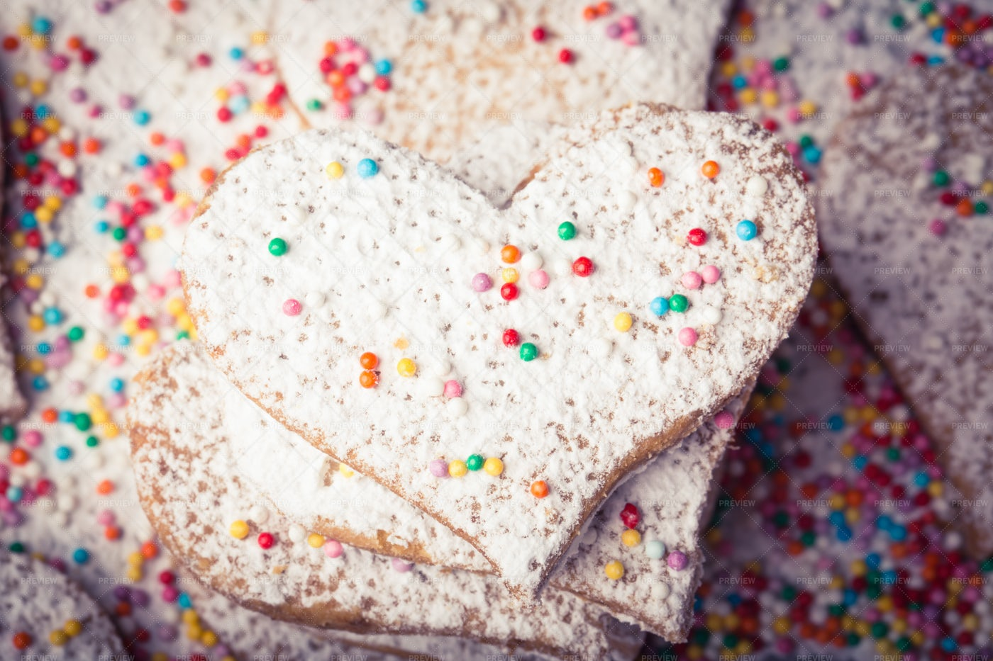 Cookies With Sprinkles: Stock Photos