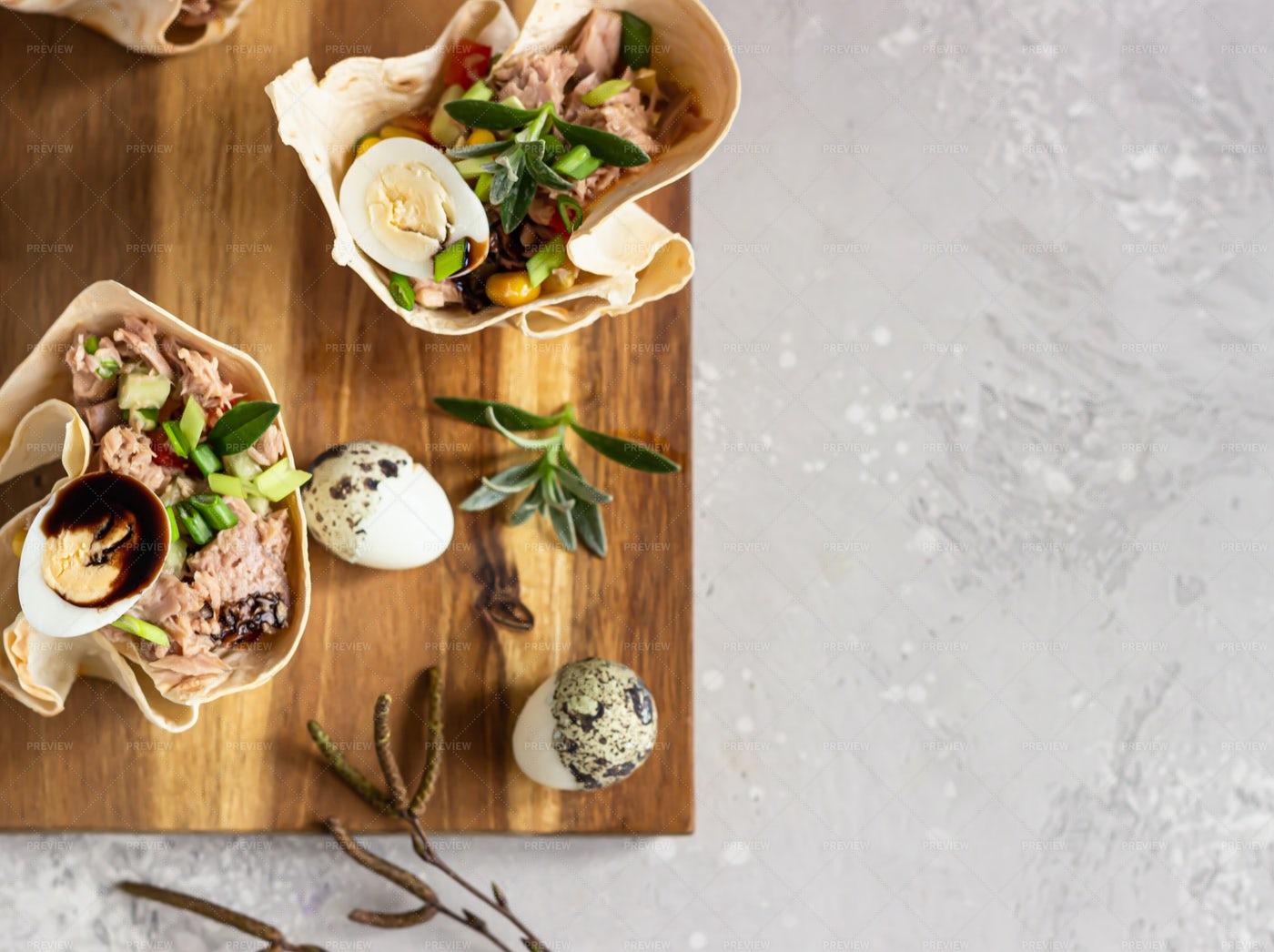 Salad With Tuna: Stock Photos