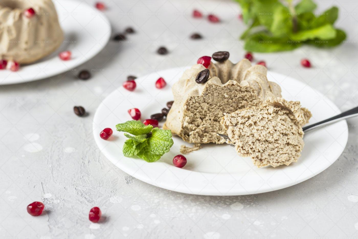 Vegan Mini Cheesecake: Stock Photos