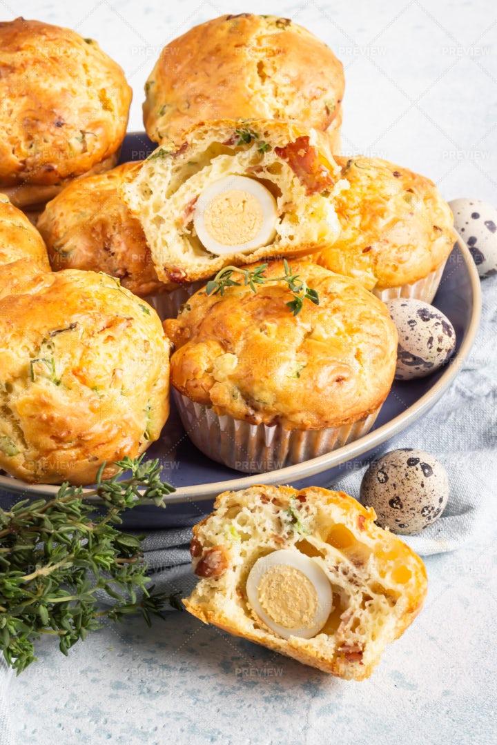 Savory Muffins: Stock Photos