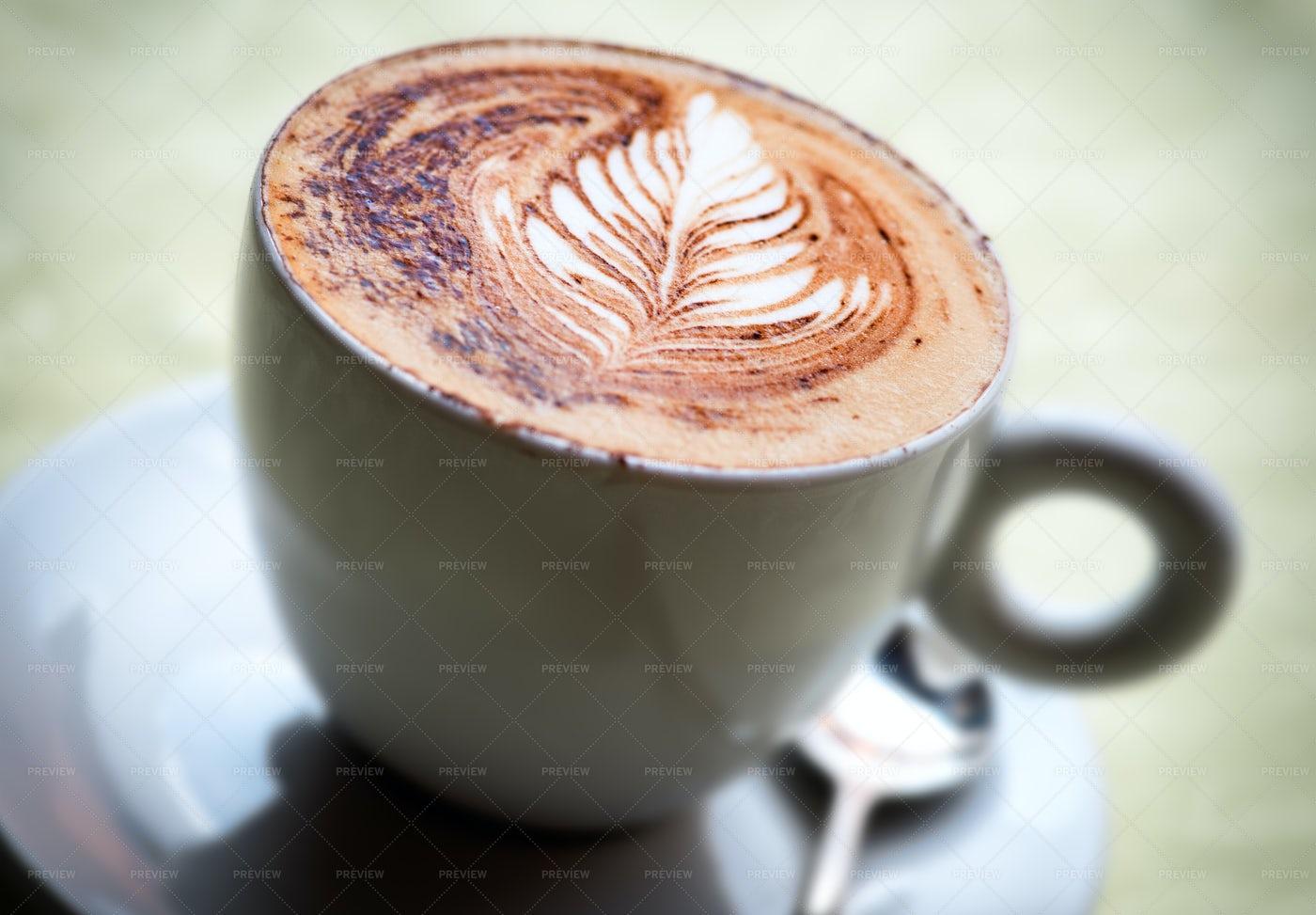 Hot Cappuccino Coffee: Stock Photos