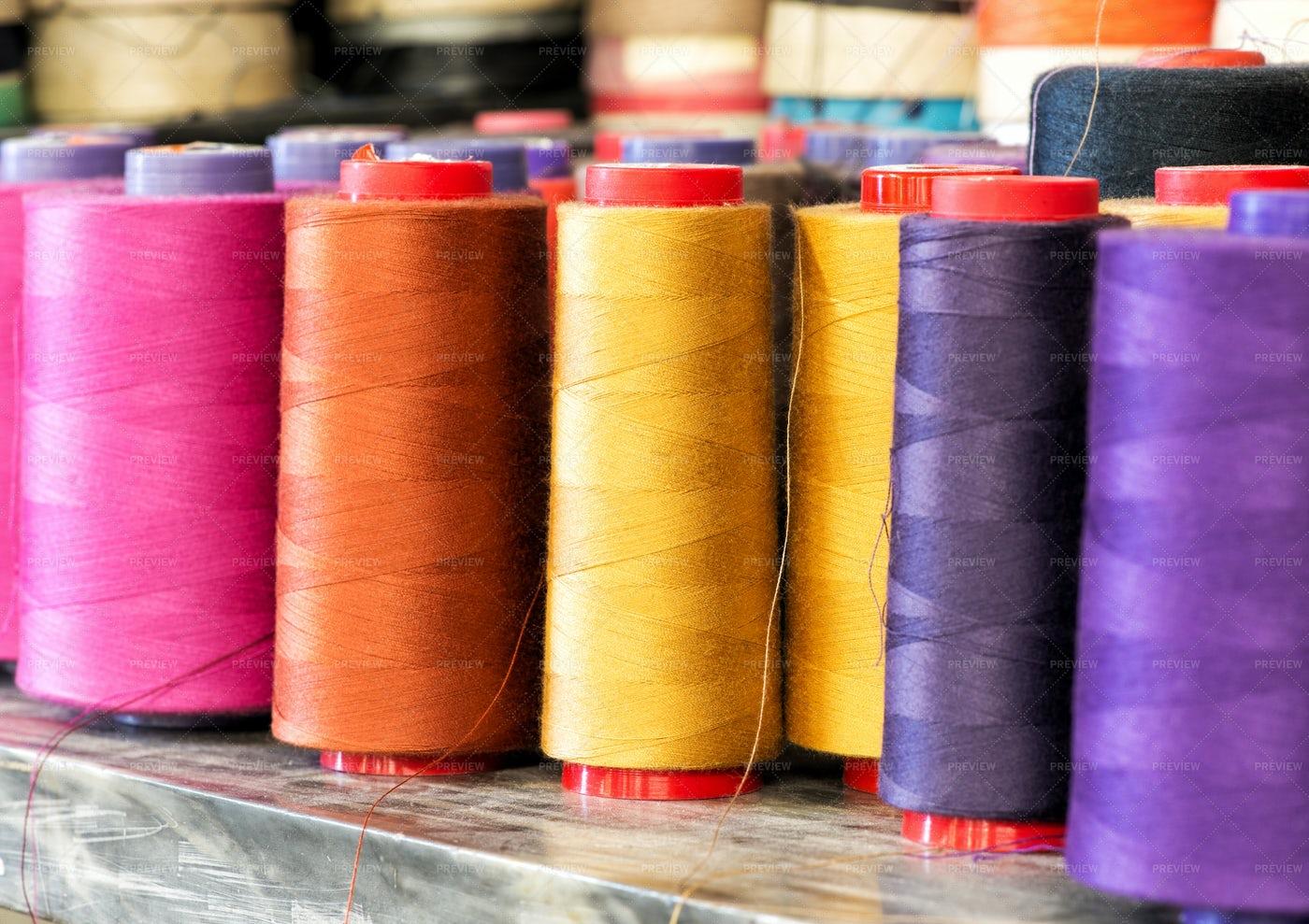 Colorful Cotton Thread: Stock Photos