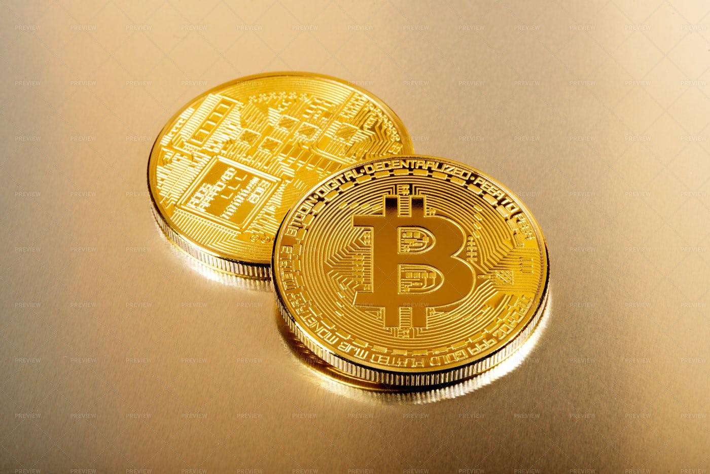 Collectible Bitcoins: Stock Photos