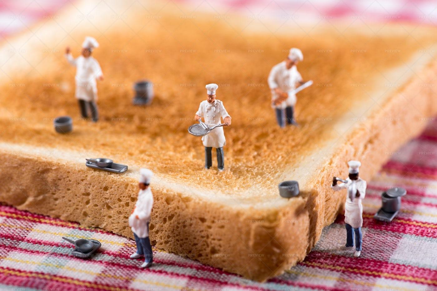 Chefs On A Toast: Stock Photos