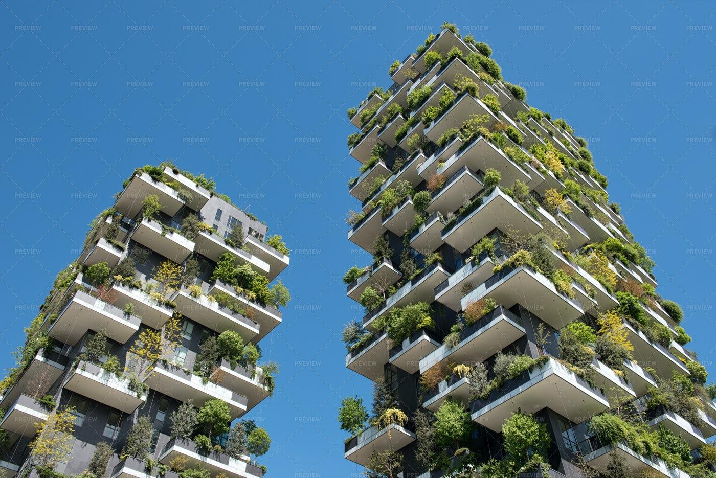 Tree Skyscrapers Of Milan, Italy: Stock Photos