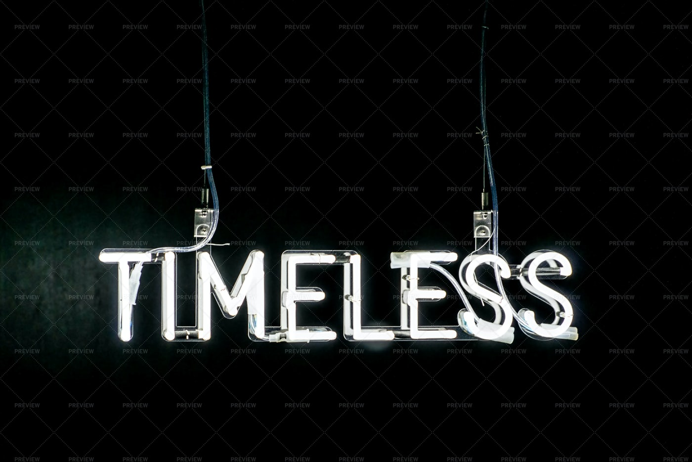 Timeless Neon Sign: Stock Photos