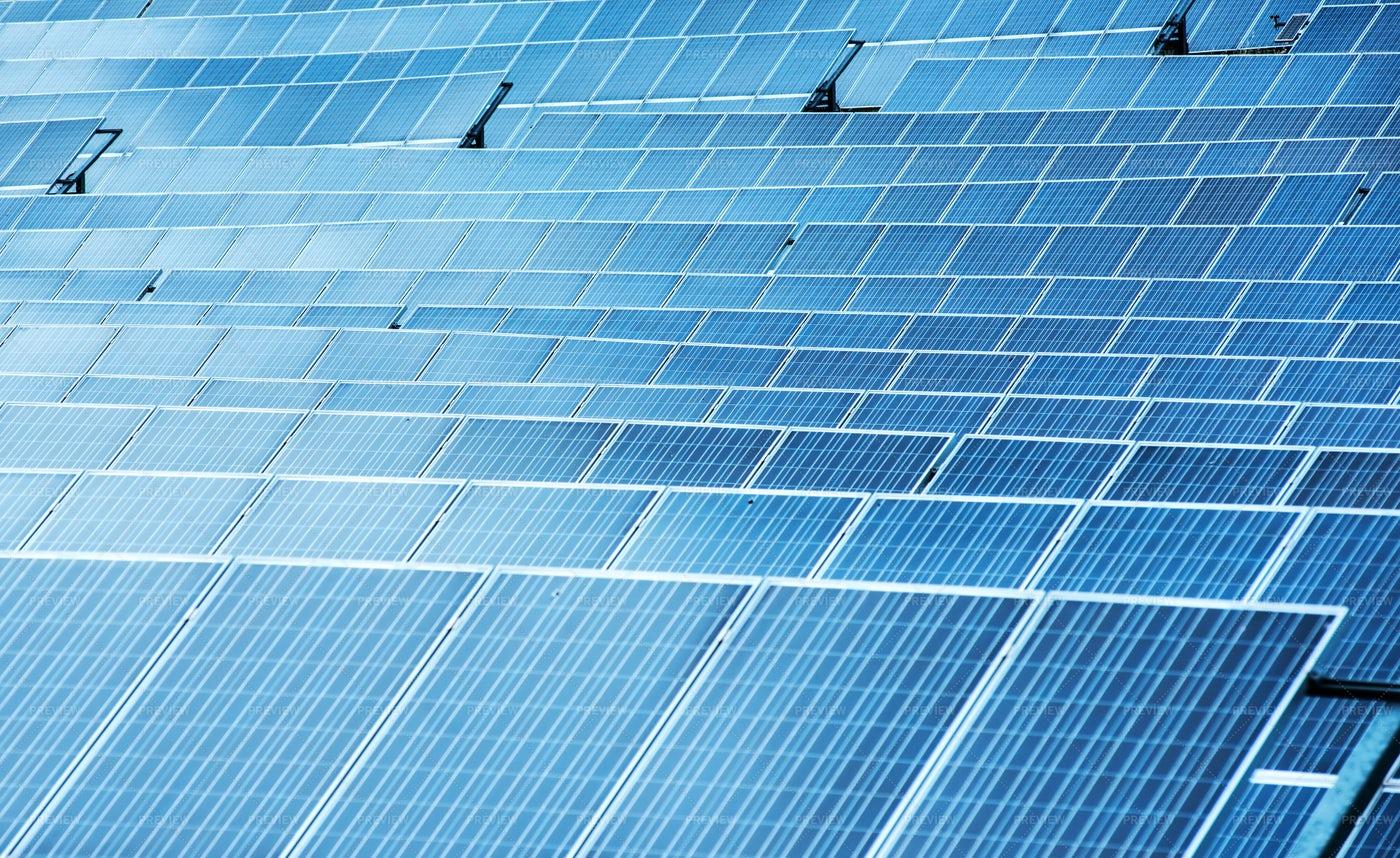 Rows Of Solar Panels: Stock Photos
