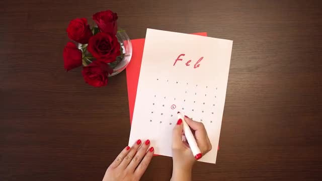 Valentine's day calendar: Stock Video