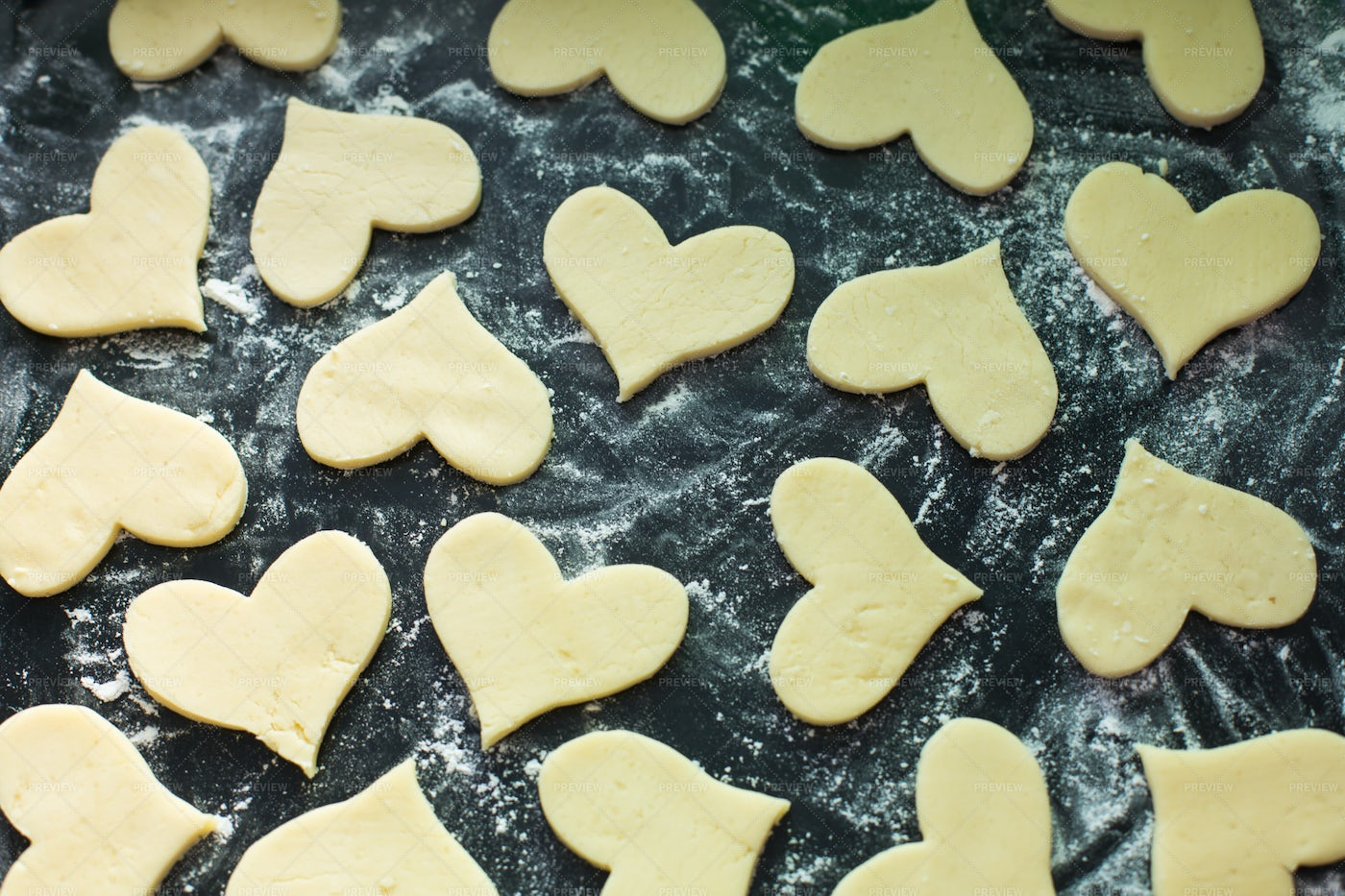 Cookies Ready For Baking: Stock Photos