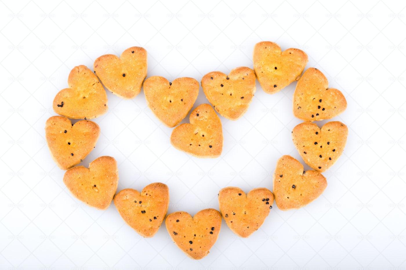 Heart Cookies: Stock Photos
