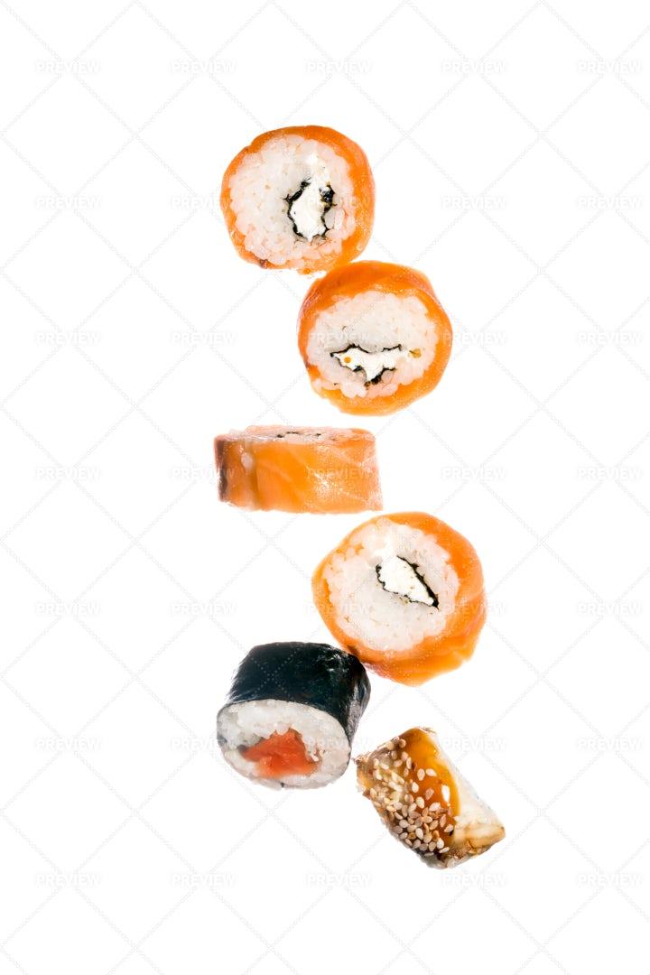 Falling Sushi: Stock Photos