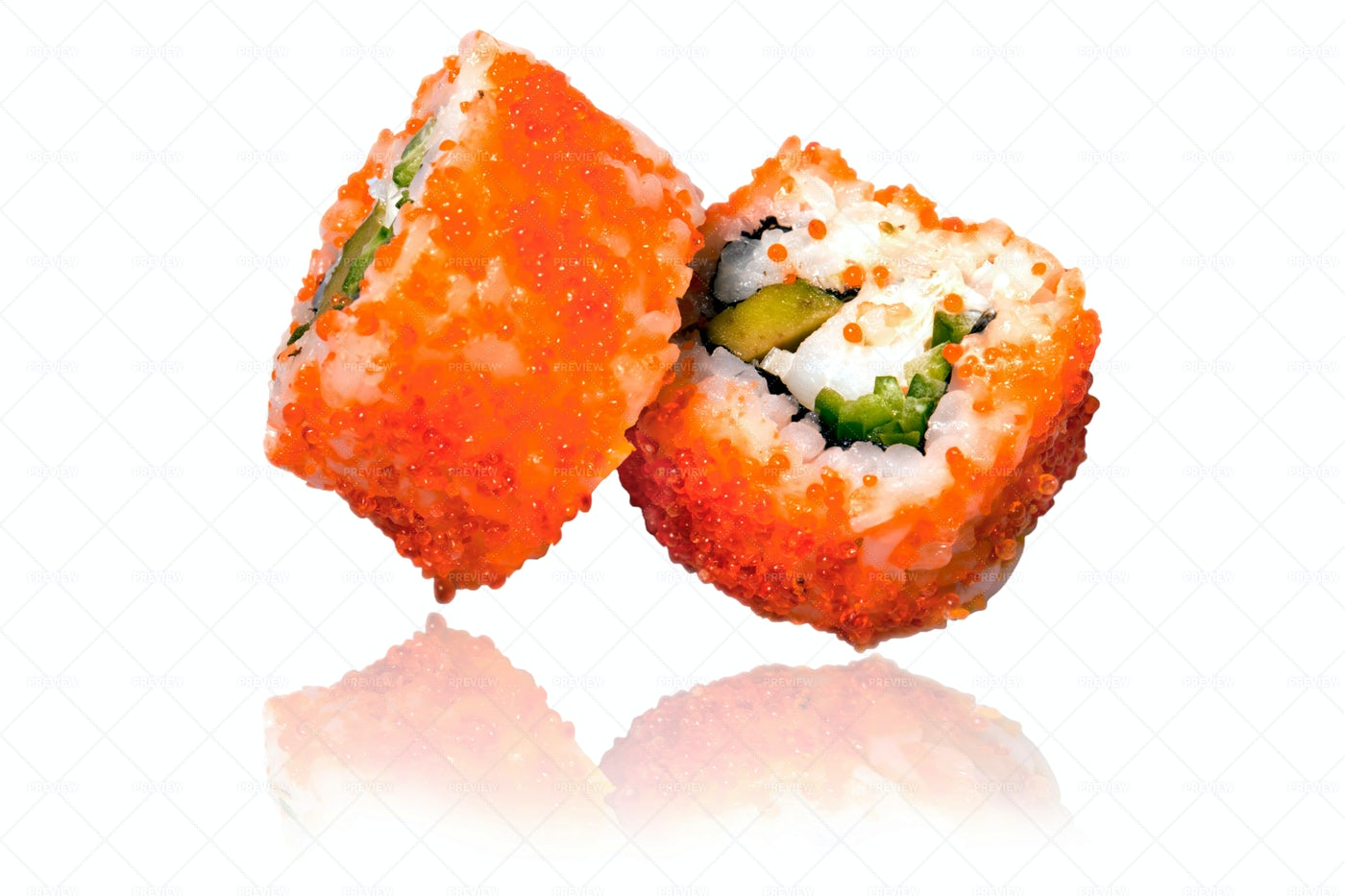 California Maki Sushi: Stock Photos