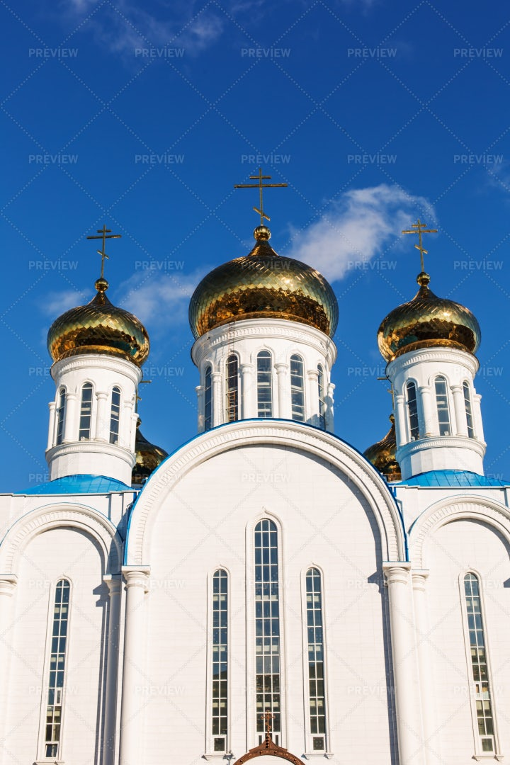 Golden Cathedral Tops: Stock Photos