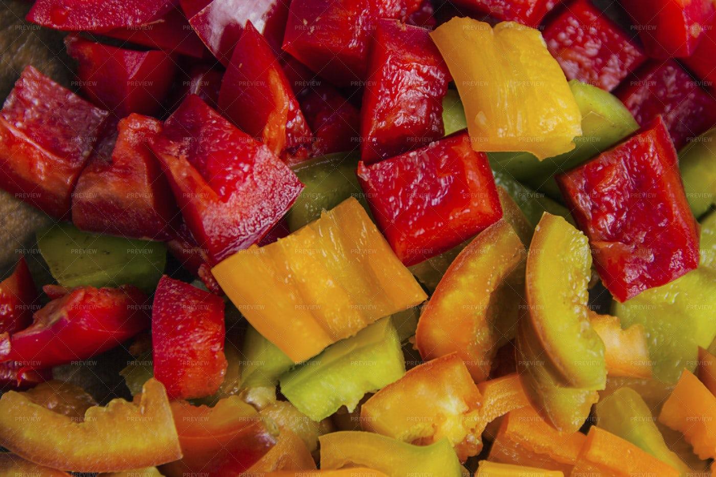 Fresh Pepper Salad: Stock Photos