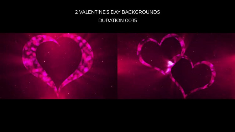 Valentine's Day Backgrounds: Motion Graphics