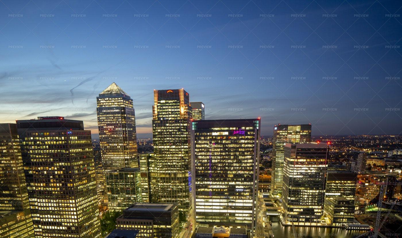 Skyline London At Night: Stock Photos