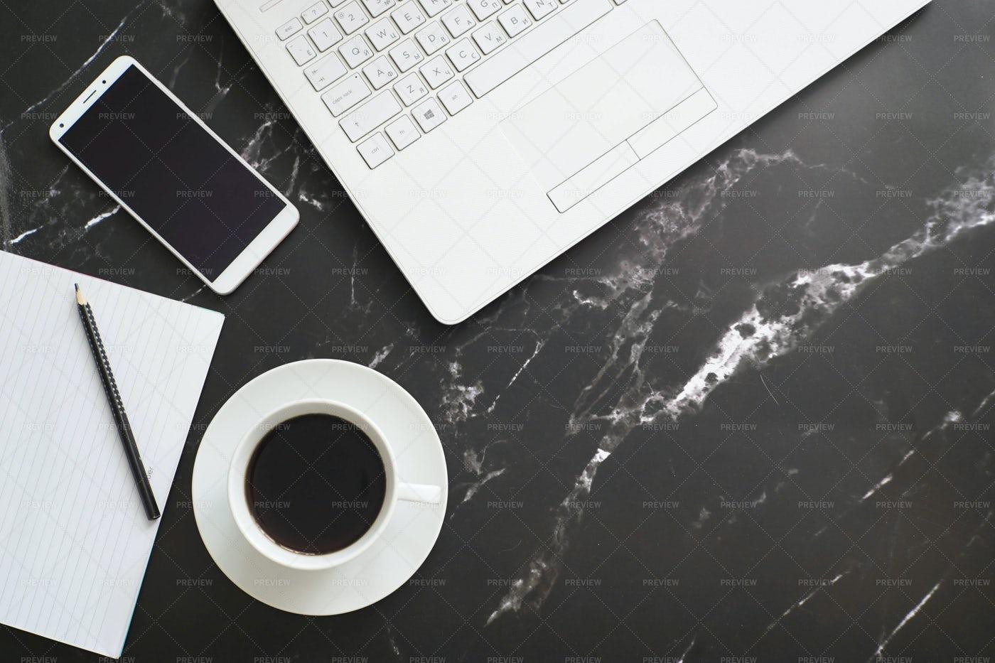 A Freelance Work Area: Stock Photos