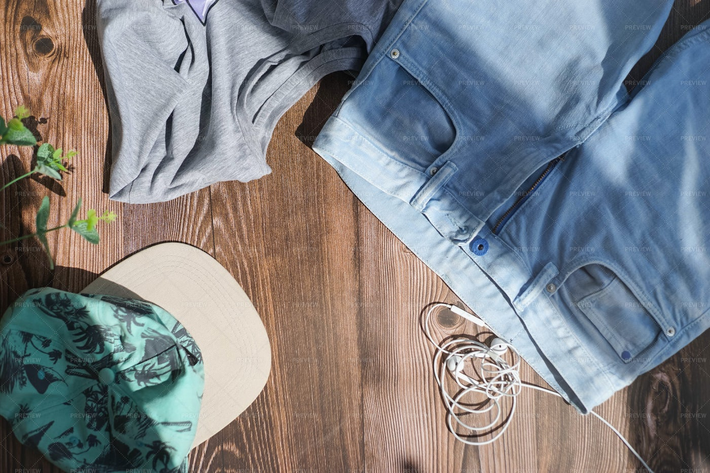 An Outfit Laid Out: Stock Photos
