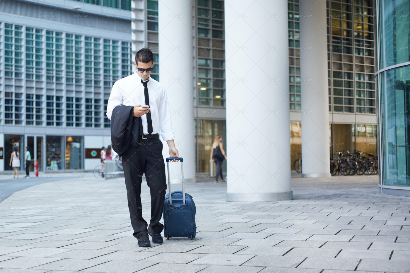 Businessman With A Suitcase: Stock Photos