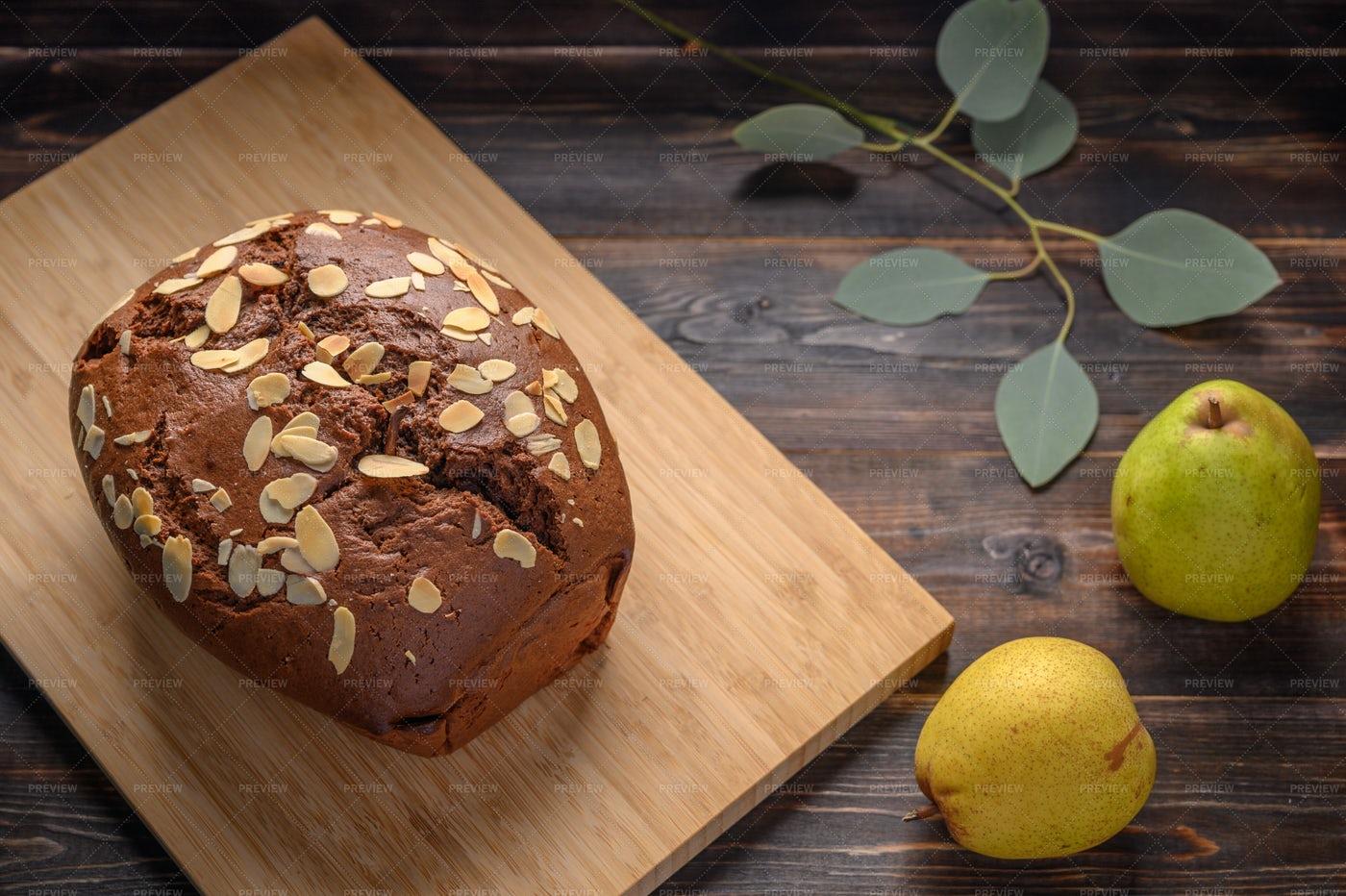 Homemade Pear Cake: Stock Photos