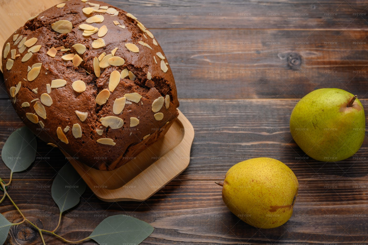 Pear Cake With Ginger: Stock Photos