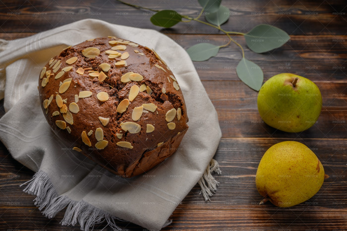 Pear And Almonds Cake: Stock Photos