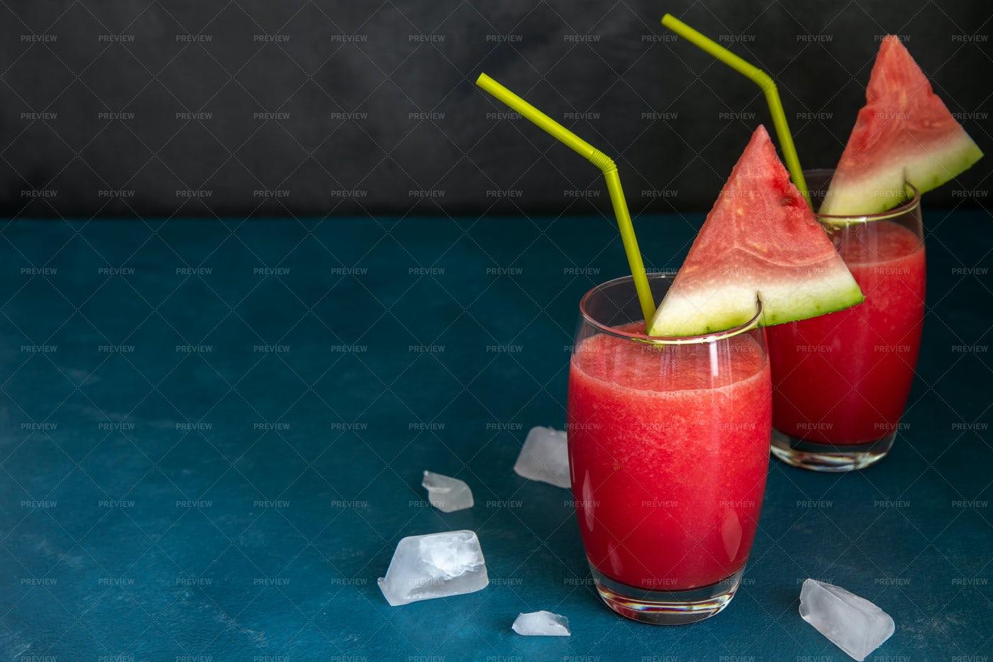 Two Watermelon Smoothies: Stock Photos