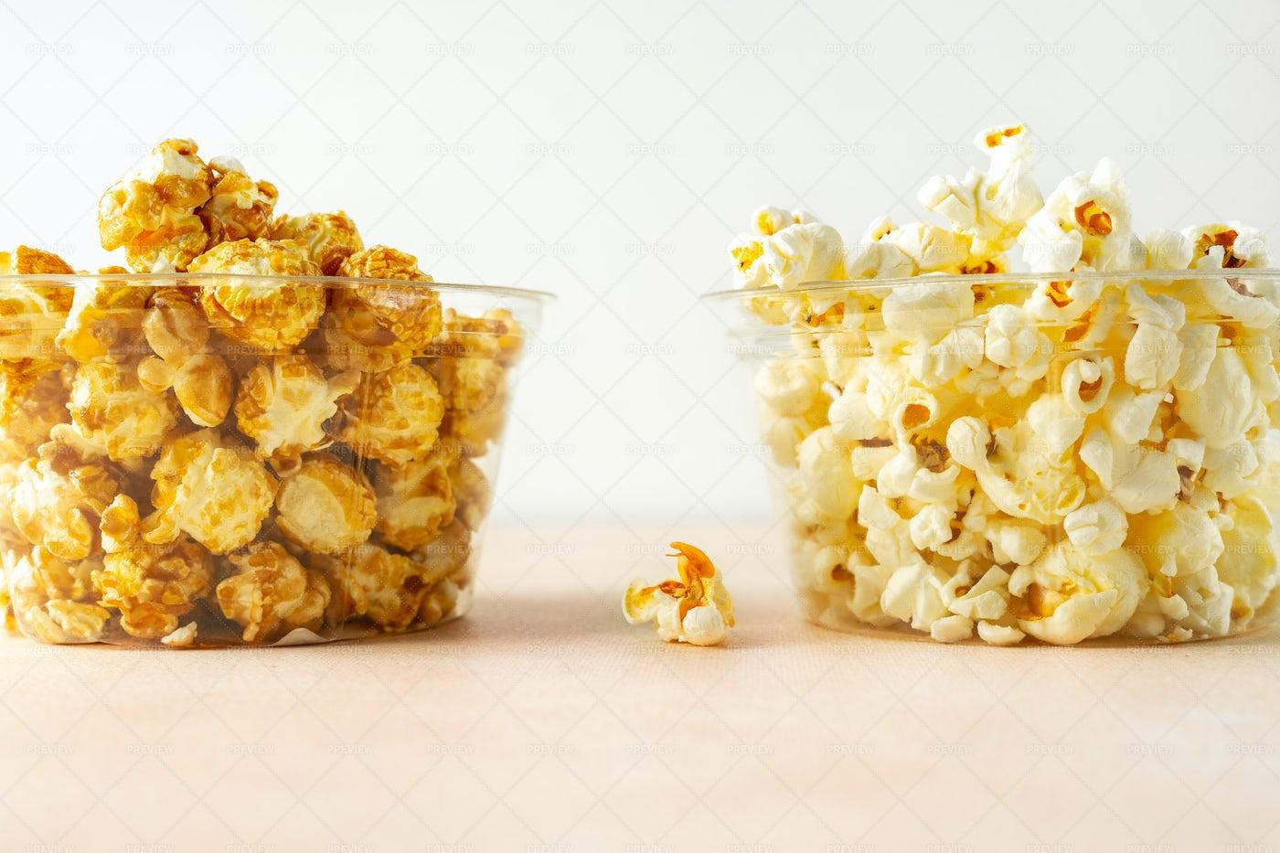 Tubs Of Popcorn: Stock Photos