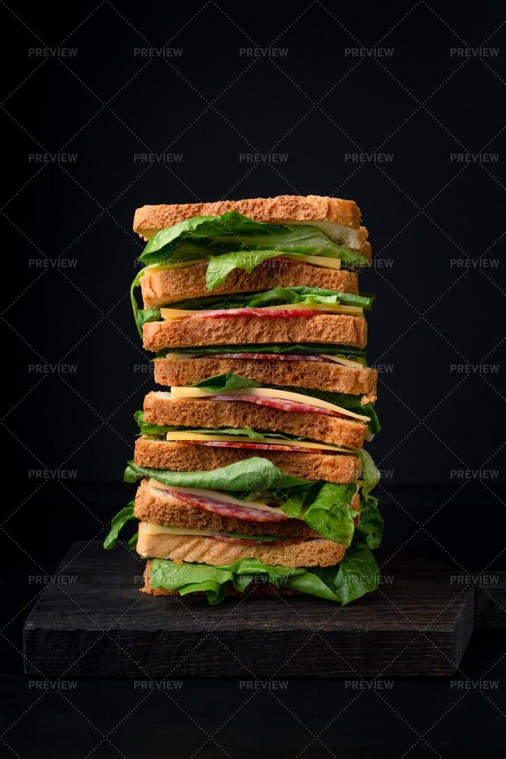 A Tall Sandwich: Stock Photos