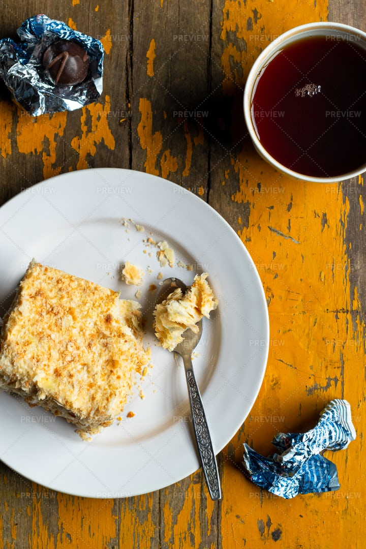 Mille-Feuille Snack: Stock Photos
