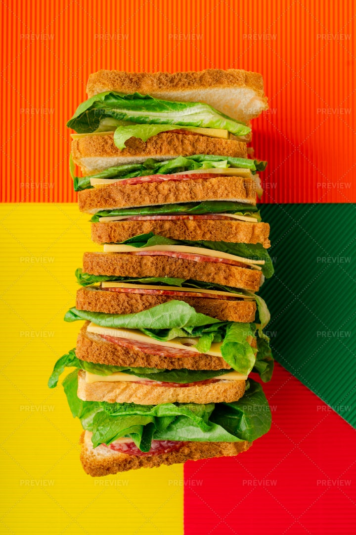 A Stacked Sandwich: Stock Photos