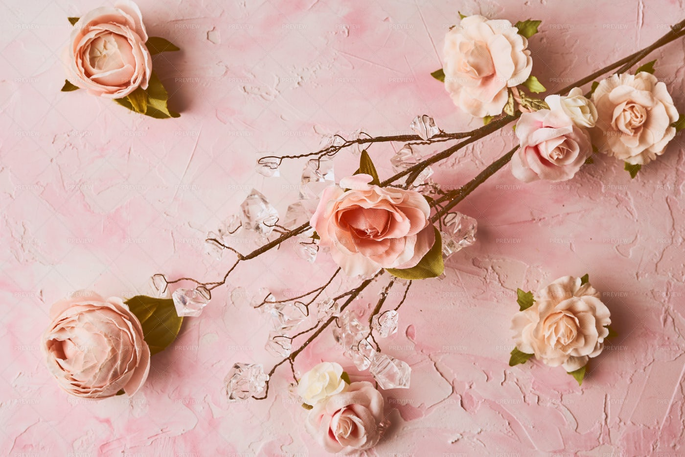 Artificial Pink Flowers: Stock Photos