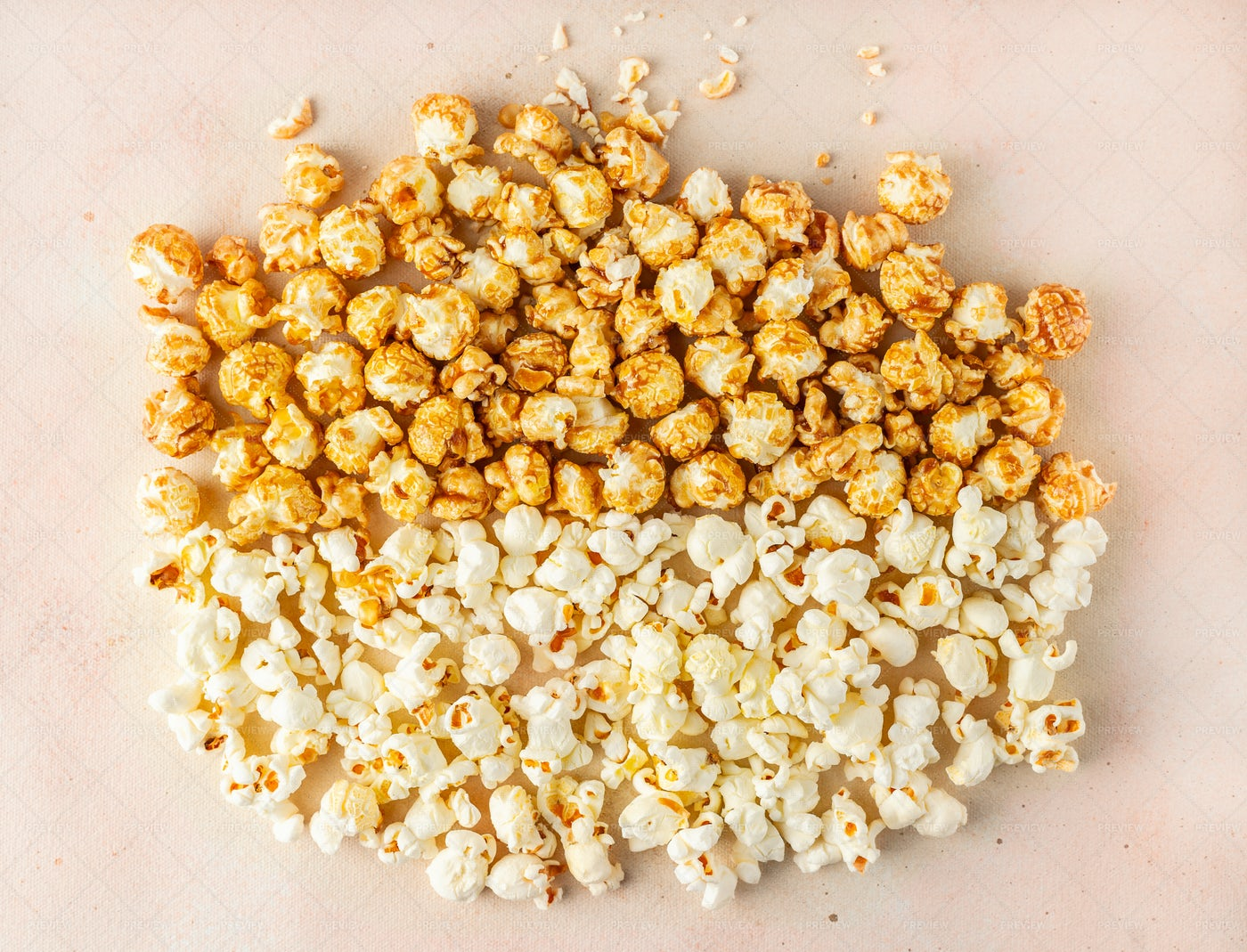 Salted And Caramelized Popcorn: Stock Photos