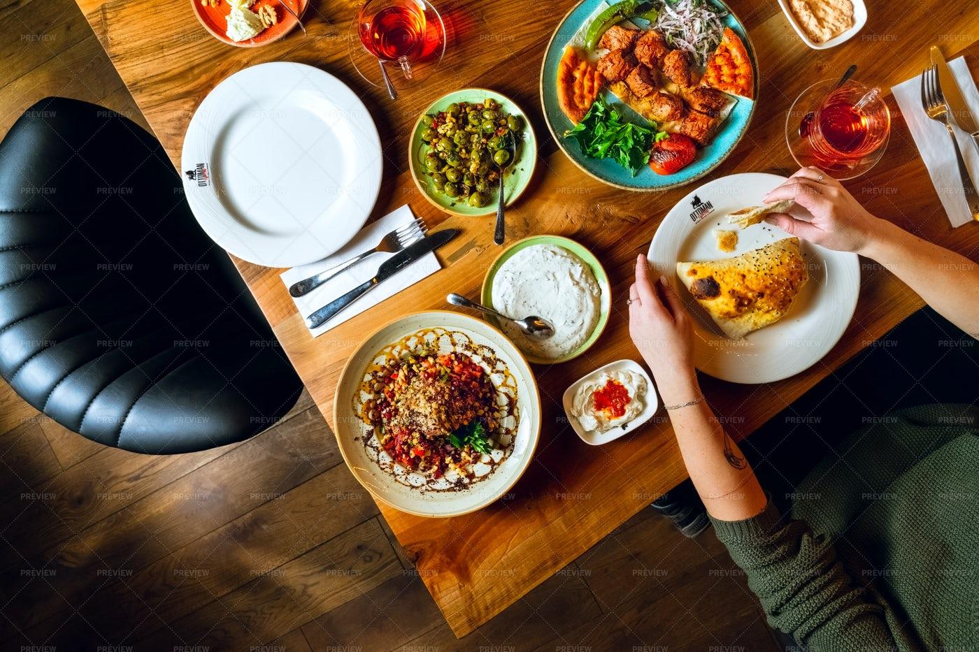 Enjoying Turkish Cuisine: Stock Photos