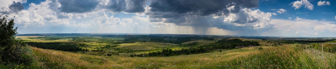Summer Landscape Panorama: Stock Photos
