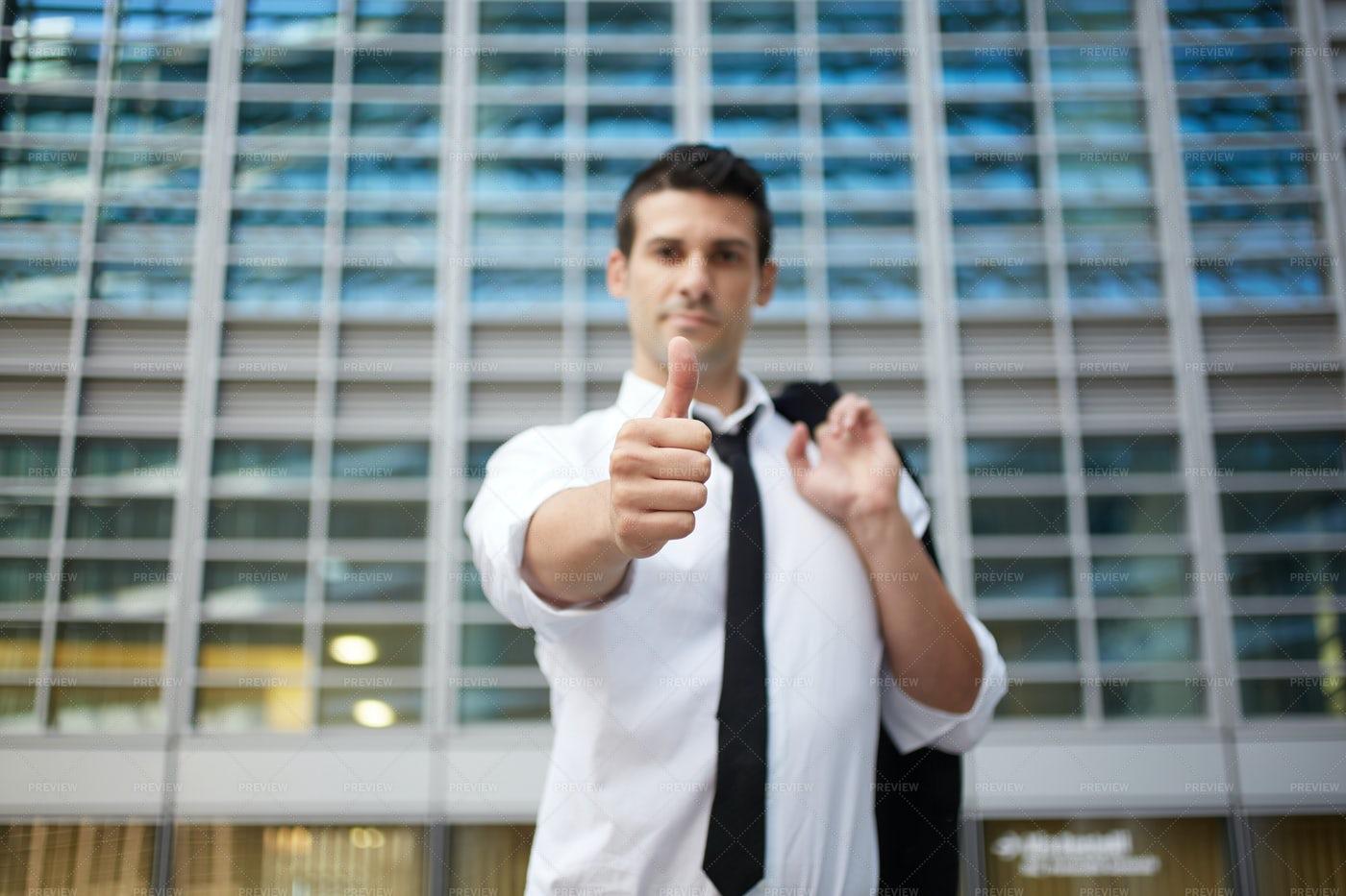 Businessman's Thumbs Up: Stock Photos
