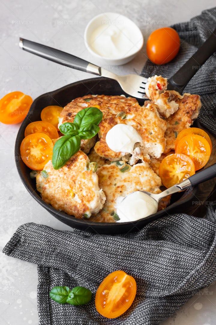 Chicken Or Turkey Cutlets: Stock Photos
