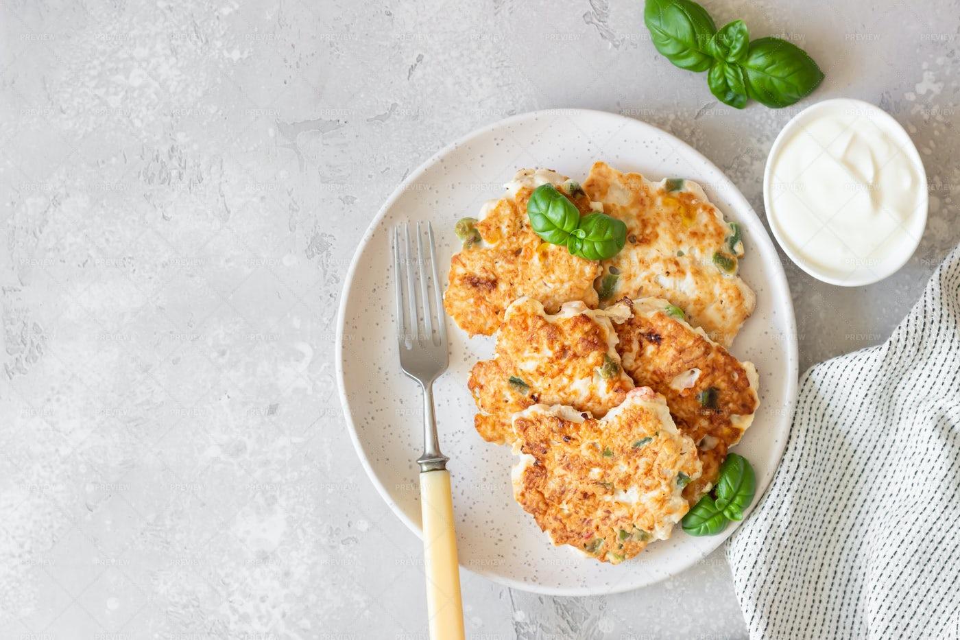 Homemade Chicken Cutlets: Stock Photos