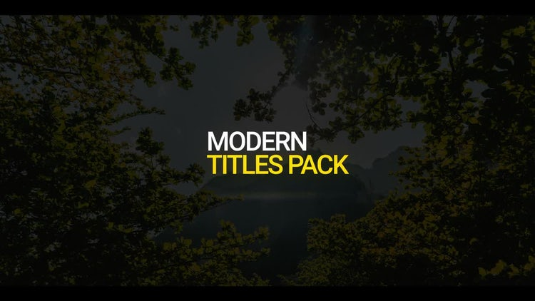 Simple Modern Titles: Motion Graphics Templates