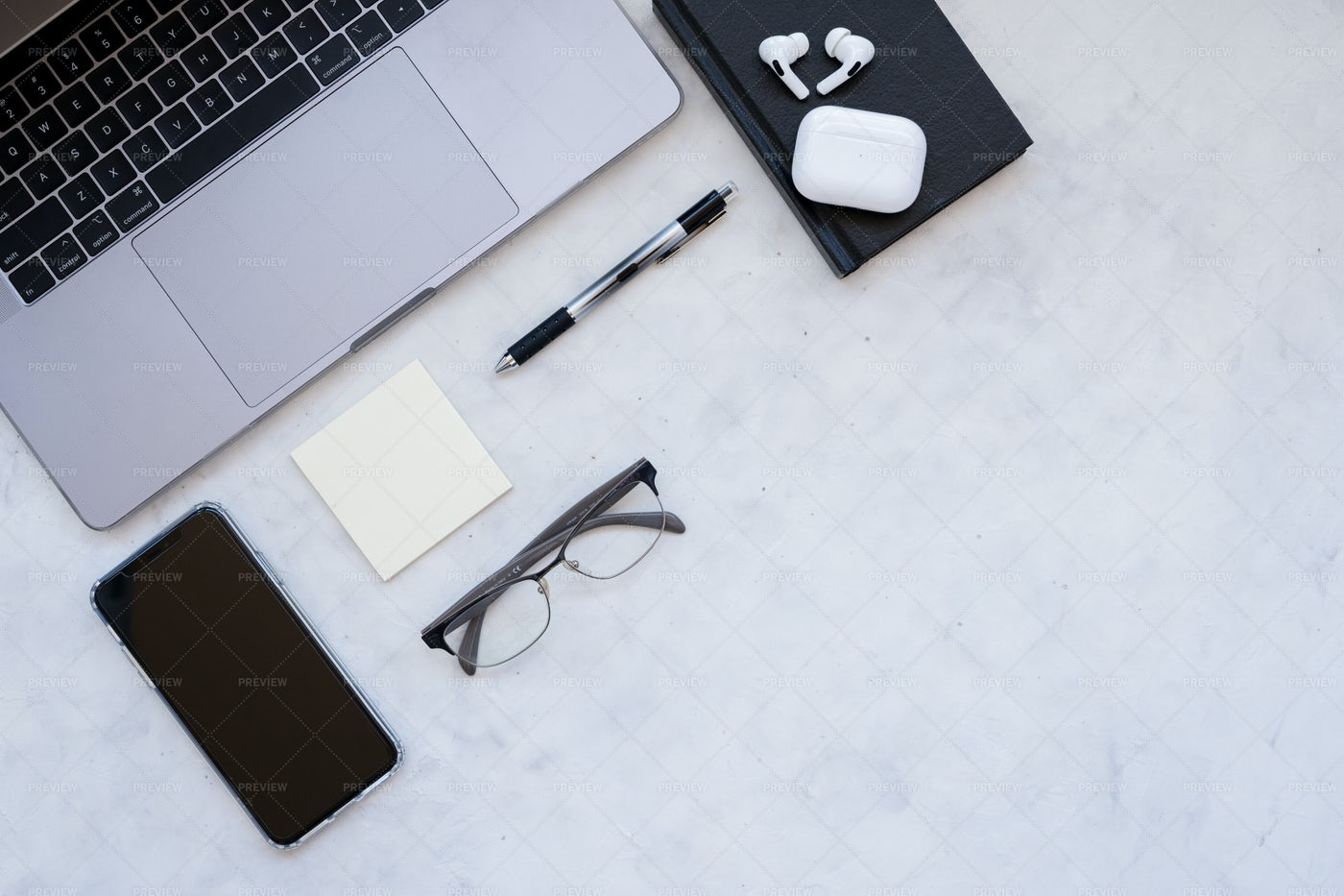 Monochrome Workspace: Stock Photos