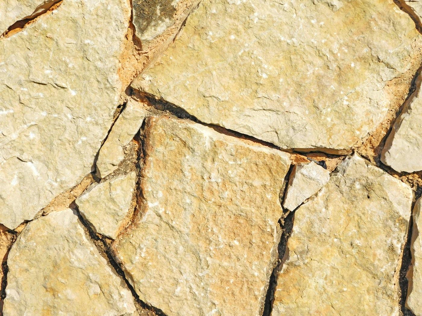 Cracking Stone Floor: Stock Photos