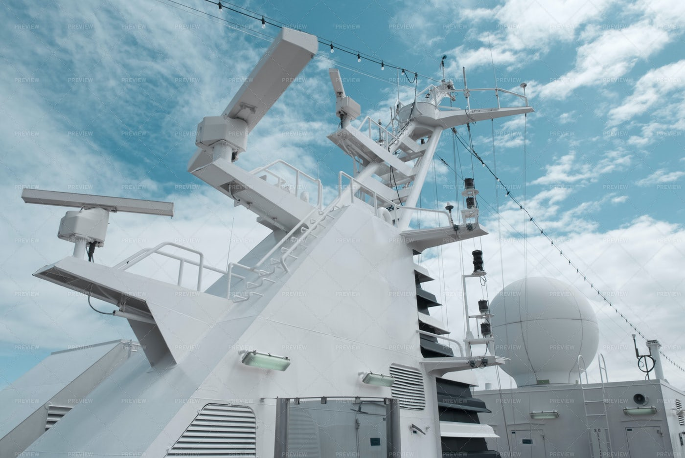 Satellite Communication Antenna: Stock Photos