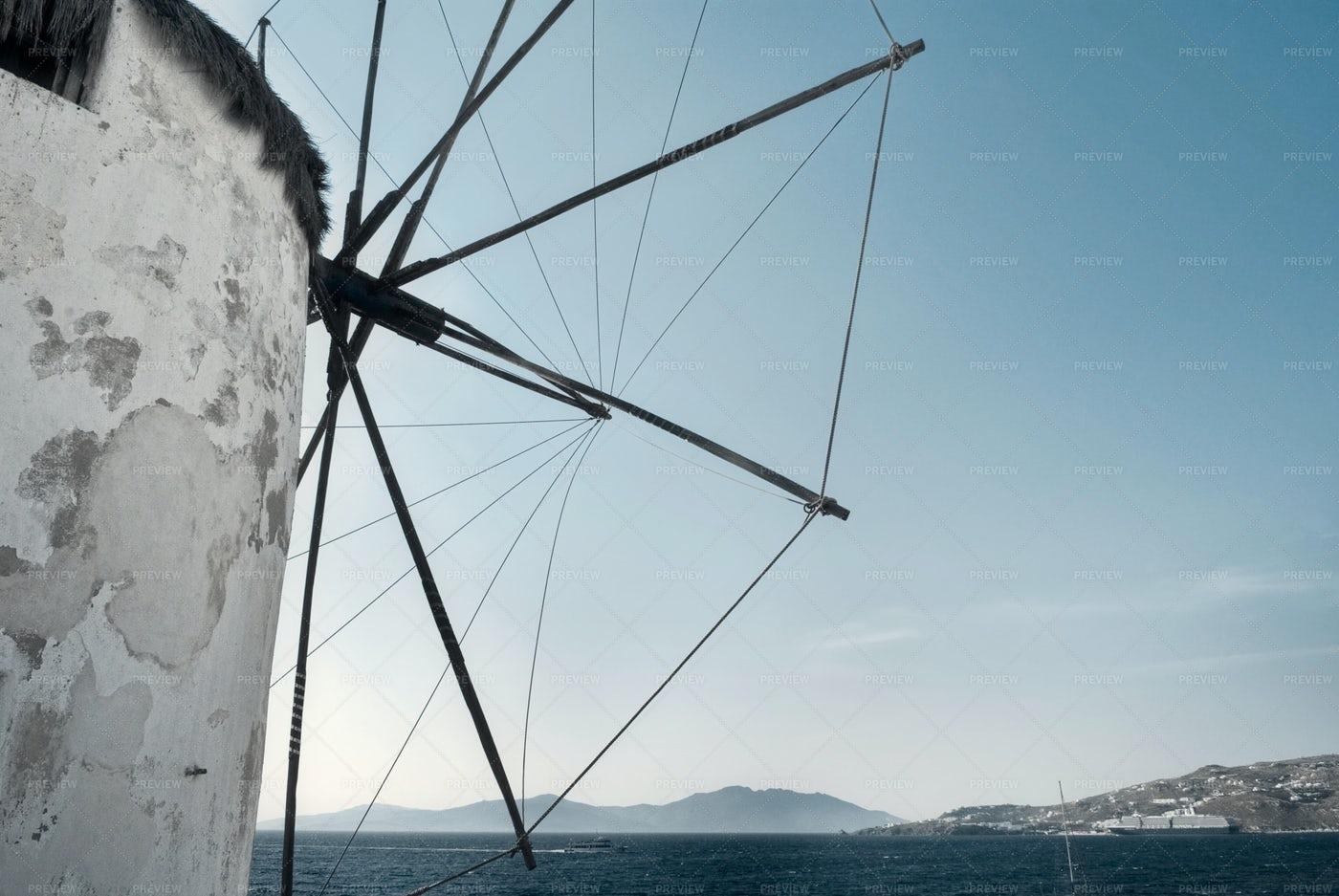Windmill In Mykonos: Stock Photos