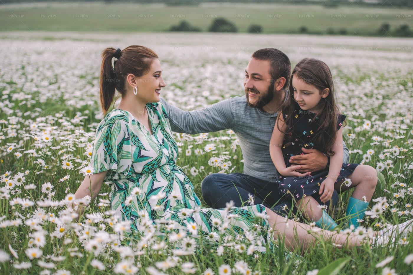 Family On The Field: Stock Photos