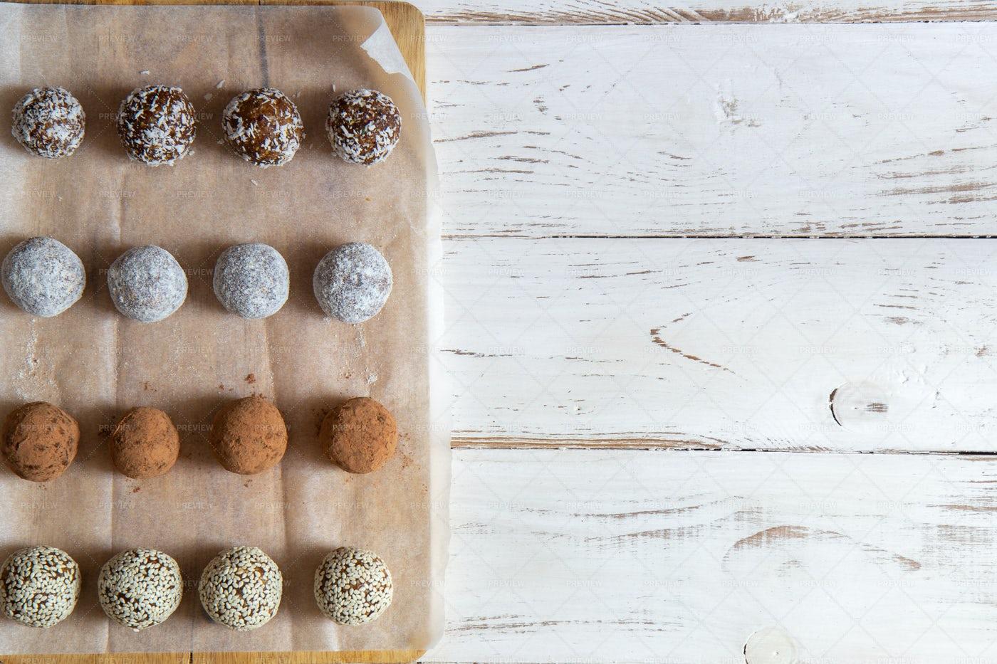 Prepared Snack Balls: Stock Photos