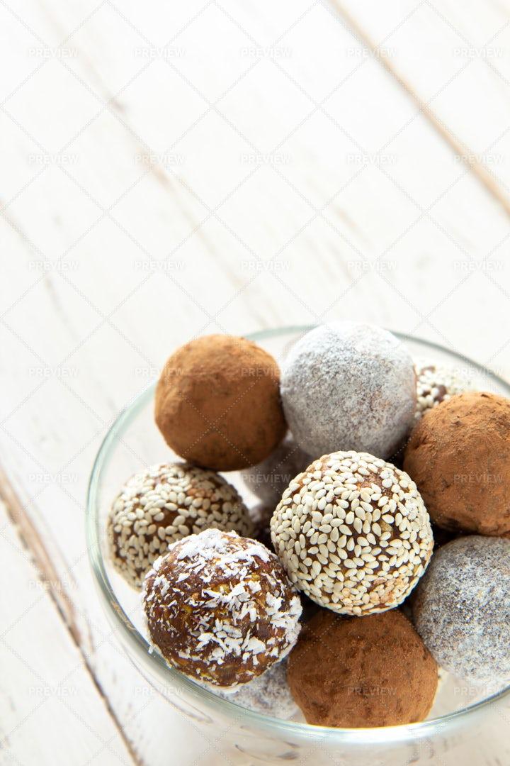 Bowl Of Snack Balls: Stock Photos
