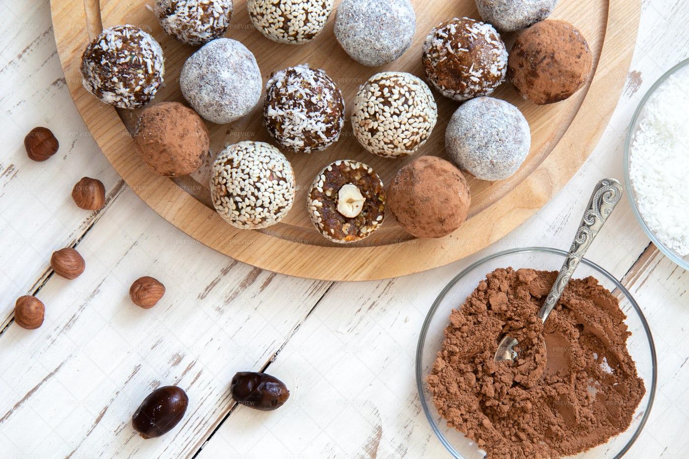 Preparing Snack Balls: Stock Photos