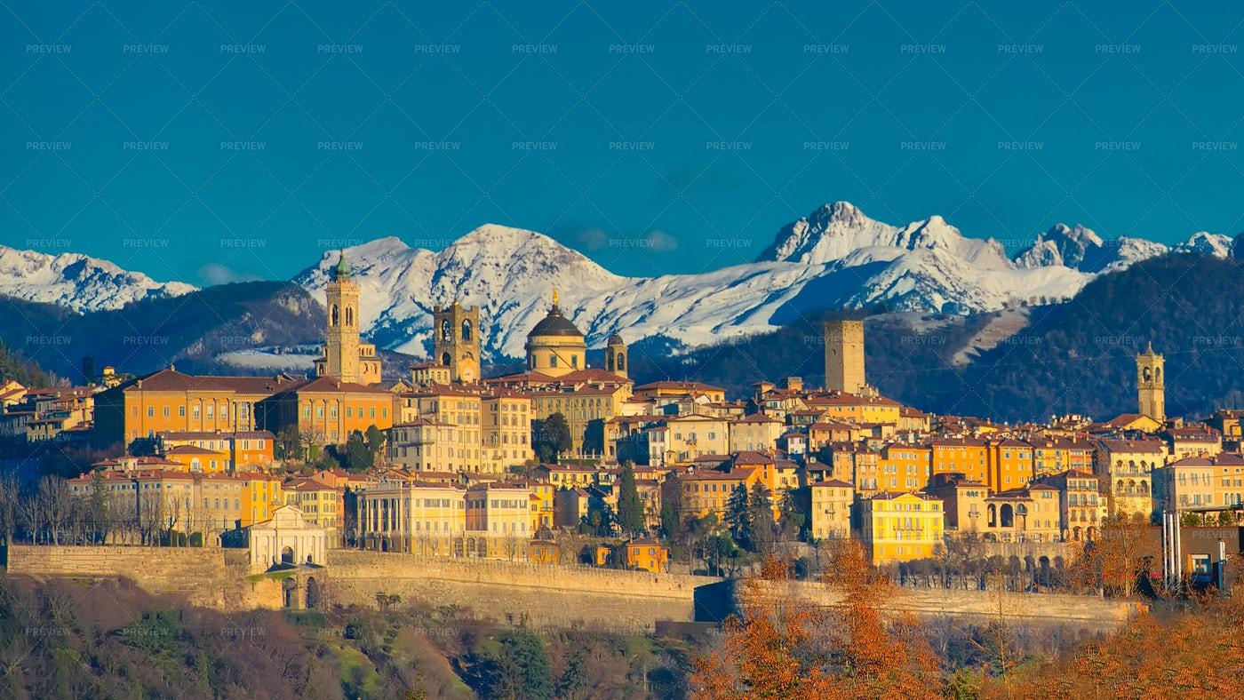 The City Of Bergamo: Stock Photos