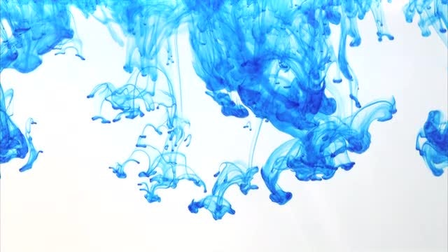 Blue Ink In Water: Stock Video